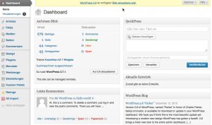 WordPress Dashboar3.7.1