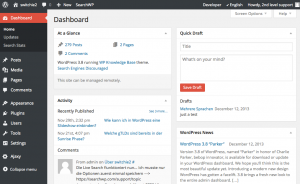 WordPress Dashboard 3.8