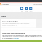 Cloudflare im WP Backend